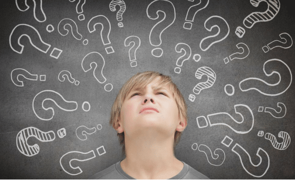 confused kid thinking